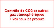 Contrôle de CO2 et autres gaz atmosphériques